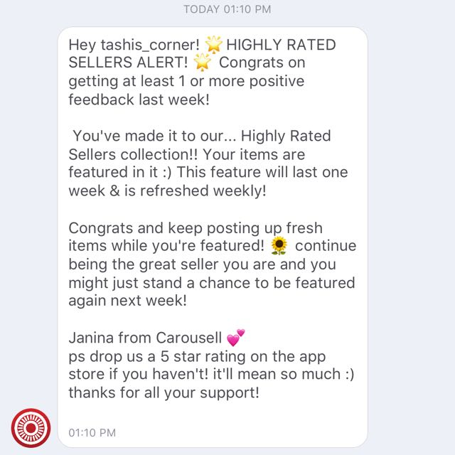 Thank You Carousell! Highly Rated Seller!