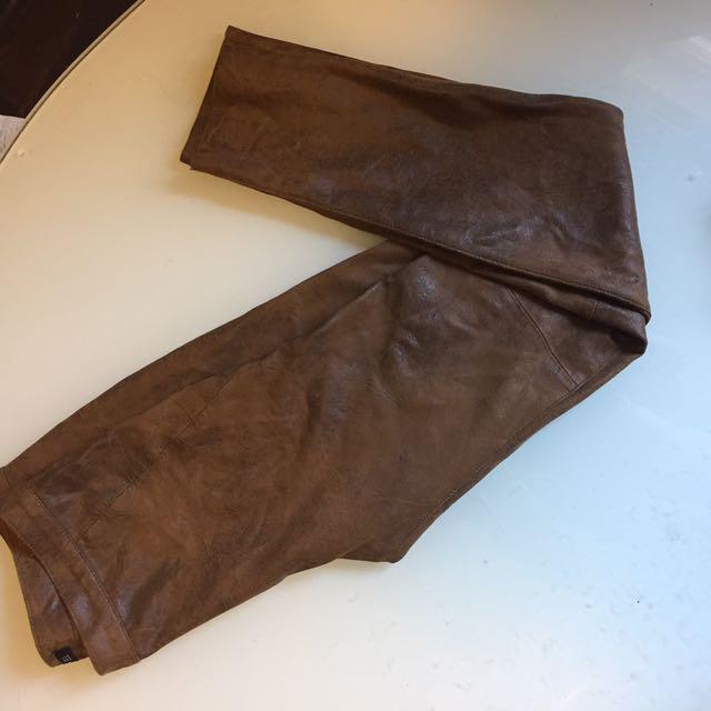 H&M Faux Animal Skin Pants