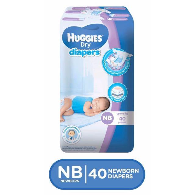 Huggies NB 40pcs