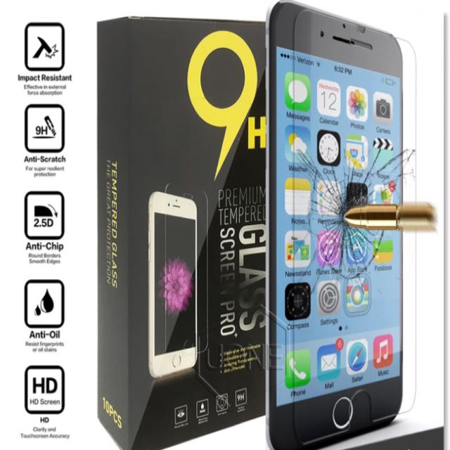 iPhone 6/6s/6PLUS/6sPLUS/7/7PLUS TEMPERED GLASS SCREEN PROTECTOR