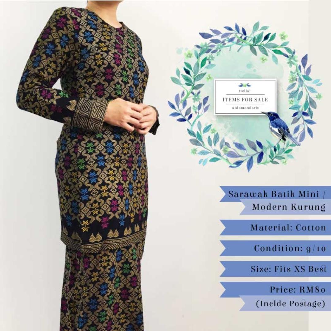 Items For Sale  Sarawak Batik Mini Modern Kurung d75a97a421