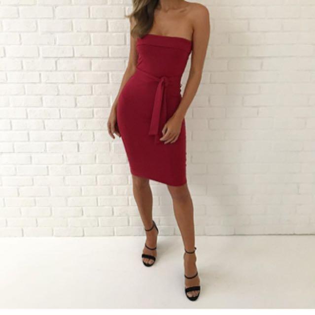 Kookai Oakley Dress In Vamp Size 1 New Season