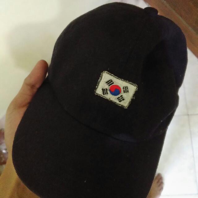 Korean Flag Dad Cap Navy