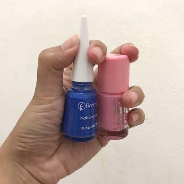 Kutek Flormar ( Navy Blue & Bubble Gum )