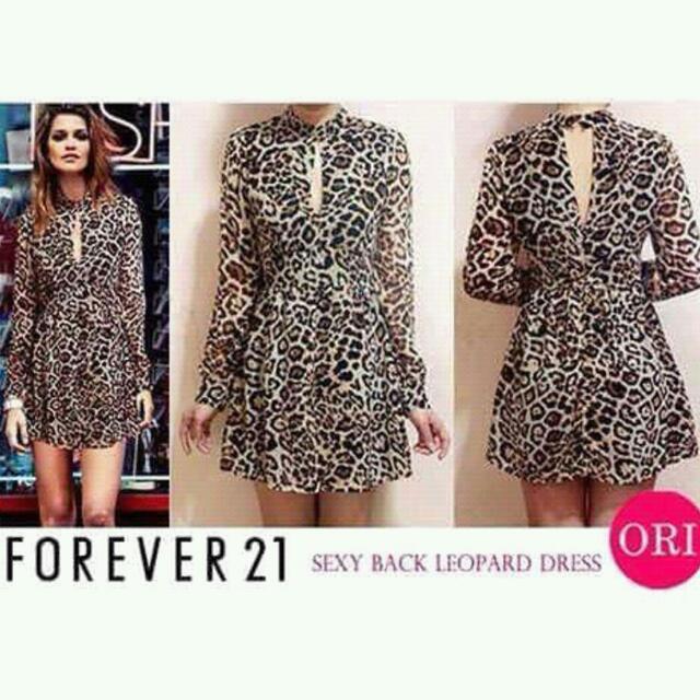 leopard sexy keyhole dress