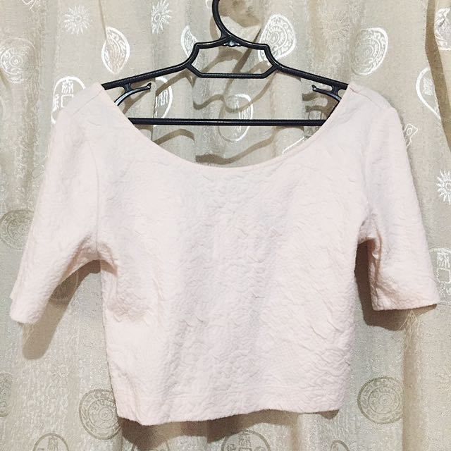 Light Pink Cropped Top H&M