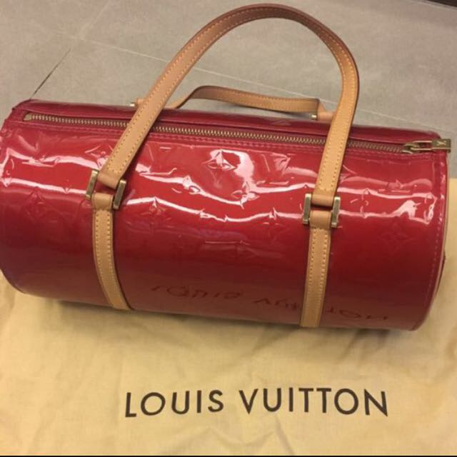 Louis Vuitton Bedford Red Vernis Leather Hand Bag