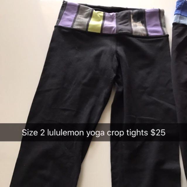Lululemon Tights Size 2