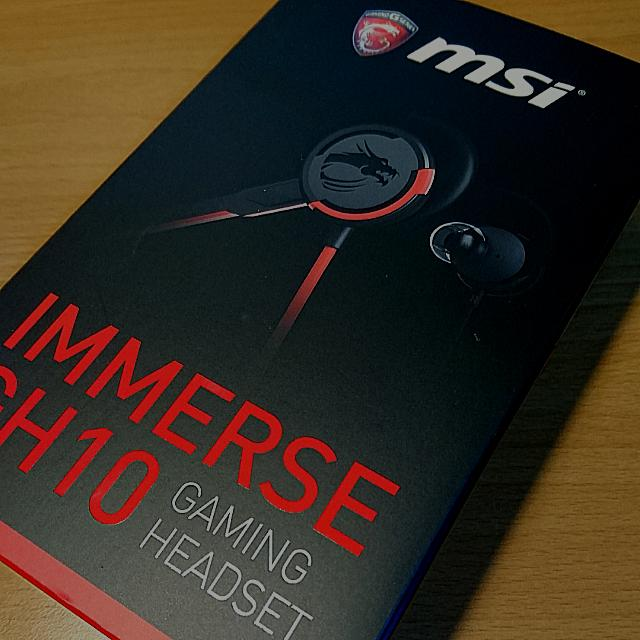 MSI Gh10 電競 耳麥 耳機 耳塞 重低音