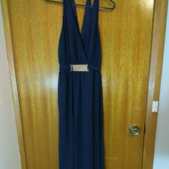 Navy Blue Ball Dress