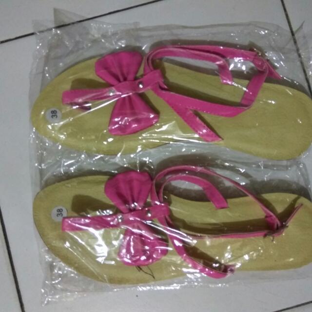 New Sepatu Sandal Pita Pink