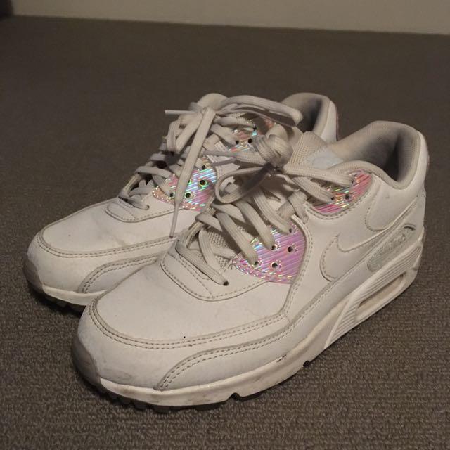 Nike Air Max 90 White Leather/Hologran