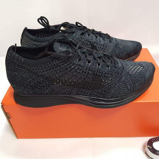 PRICE DROP!!! Nike Flyknit Racers (Triple Black)