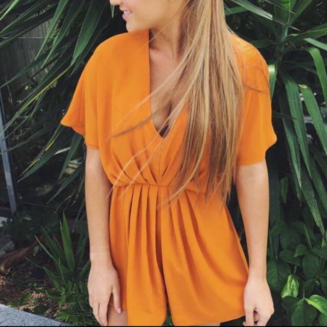 Orange Playsuit