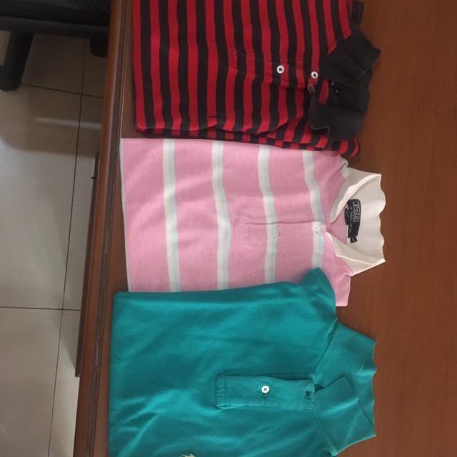 Polo By Raplh Lauren ! 3 Pieces Ukuran M Semua !