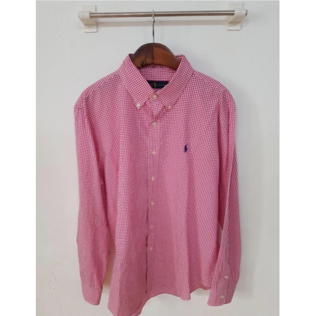 Polo Ralph Lauren 經典紅色格紋襯衫 男