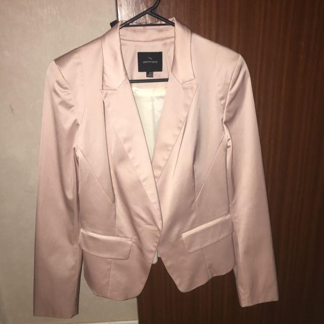 Portmans Size 10 Cotton Pink Blazer