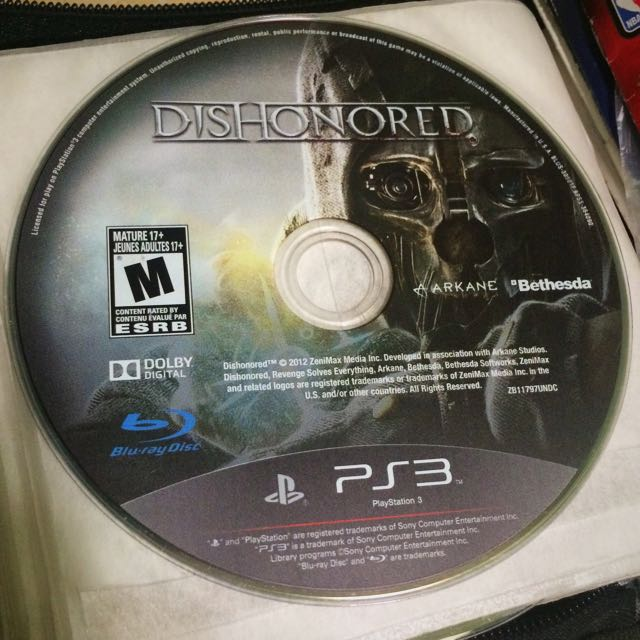 Ps3 Dishonored Game