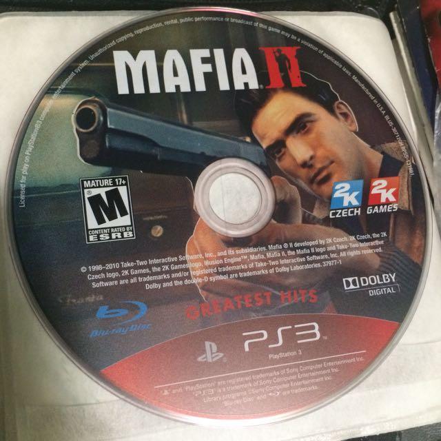 Ps3 Mafia 2 Game