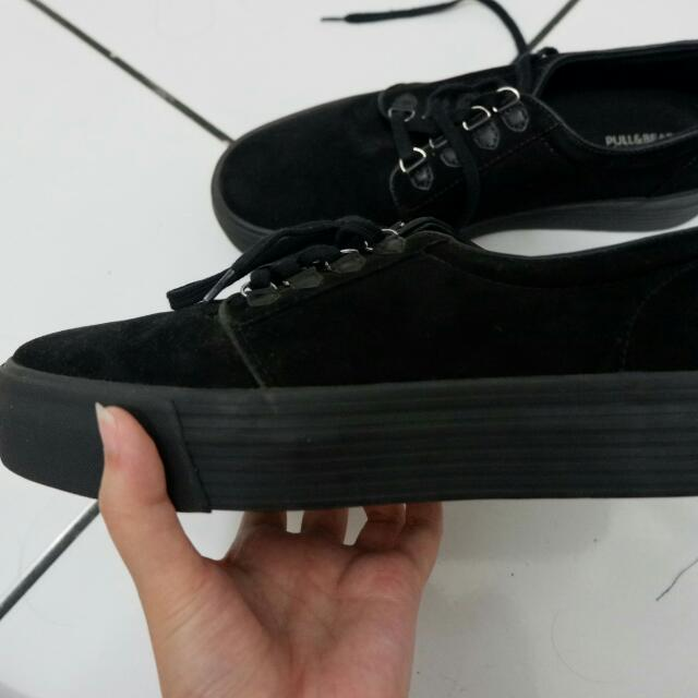 PULL & BEAR Black Creepers