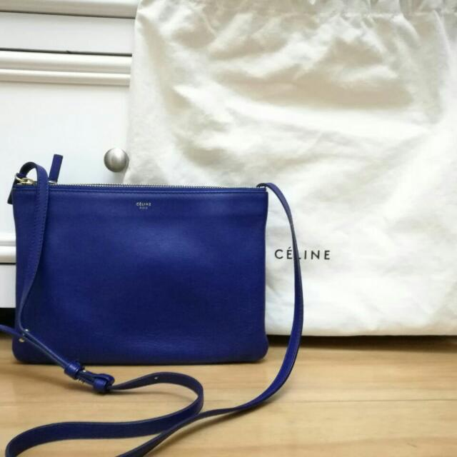 QUICK SALE! Celine Large Trio In Indigo