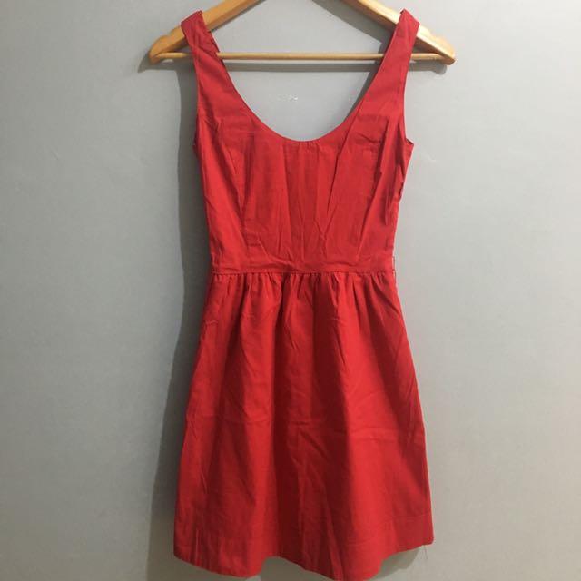 Red A-line Dress (Bershka)