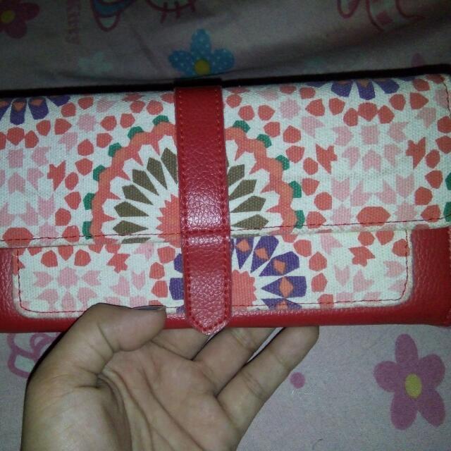 Red Cute Long Wallet