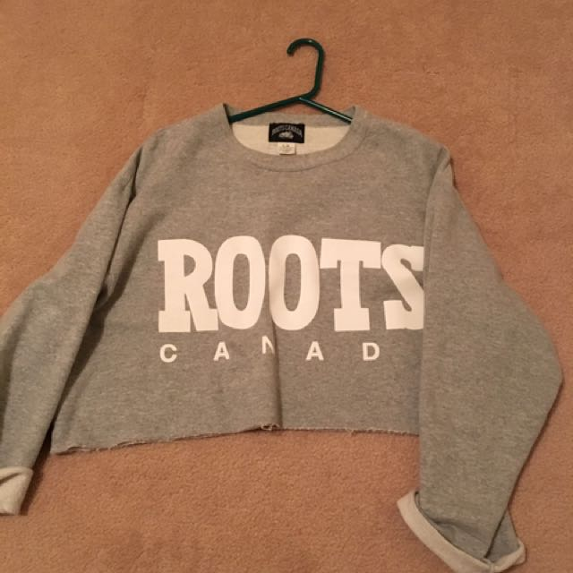 Roots Oversized Cropped Sweatshirt