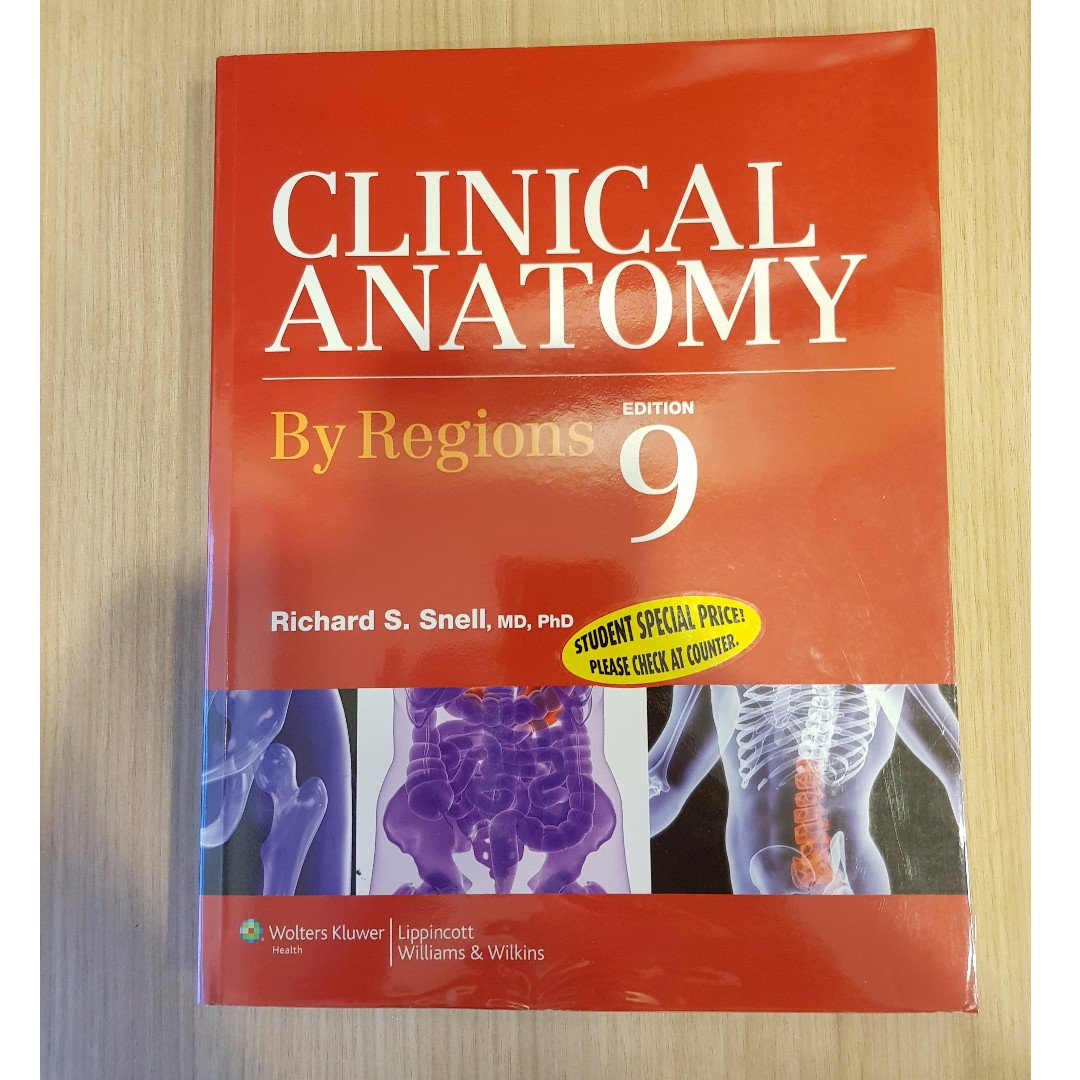 Snells Clinical Anatomy Textbook By Regions 9th Edition Books