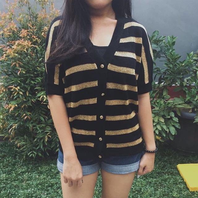 Stripe Gold Cardi