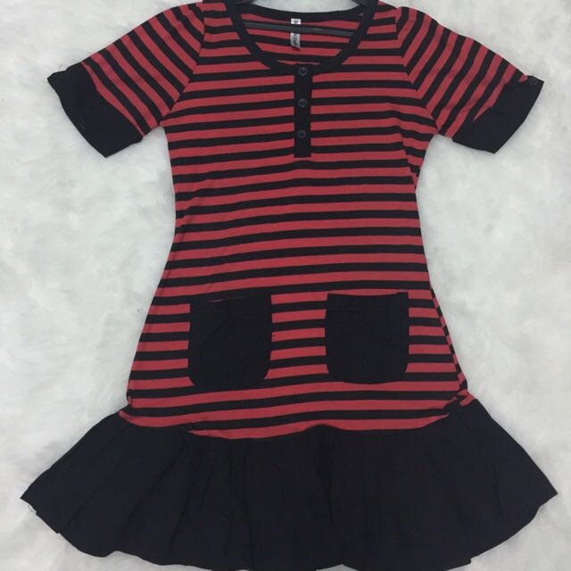 stripe peplum dress