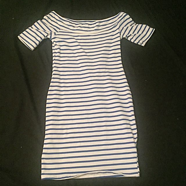 Striped Blue And White Dress