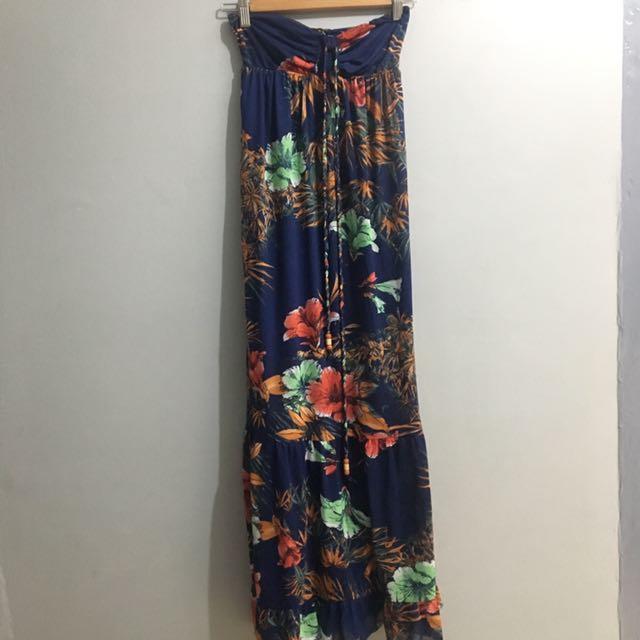 Summer Floral Maxi Dress (Pull & Bear)