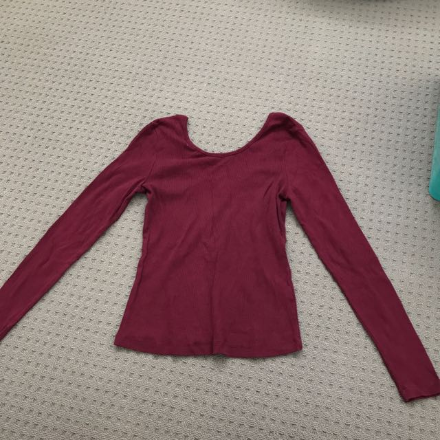 Sz10 Lily Loves Low Back LS Top