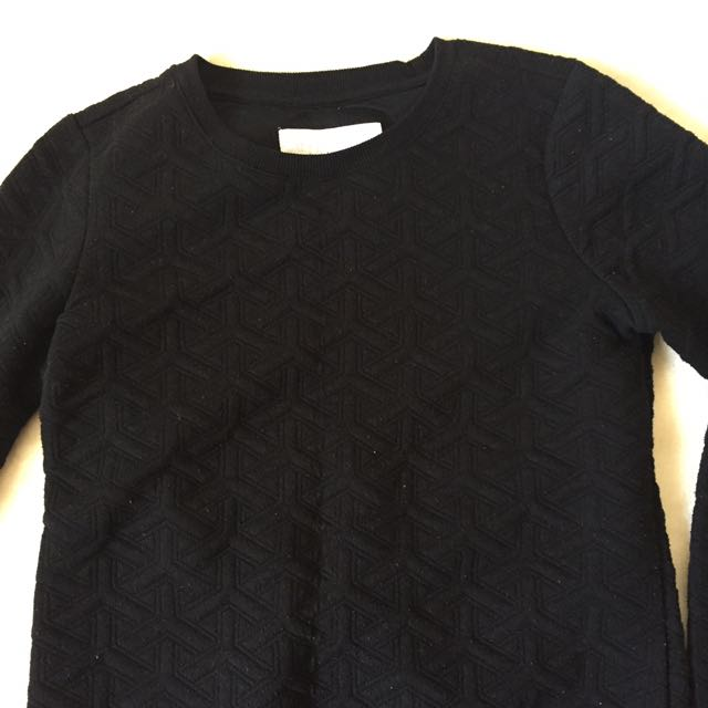 Textured Black Longsleeve