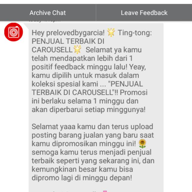 Thank You Carousell💗💗💗💗💗