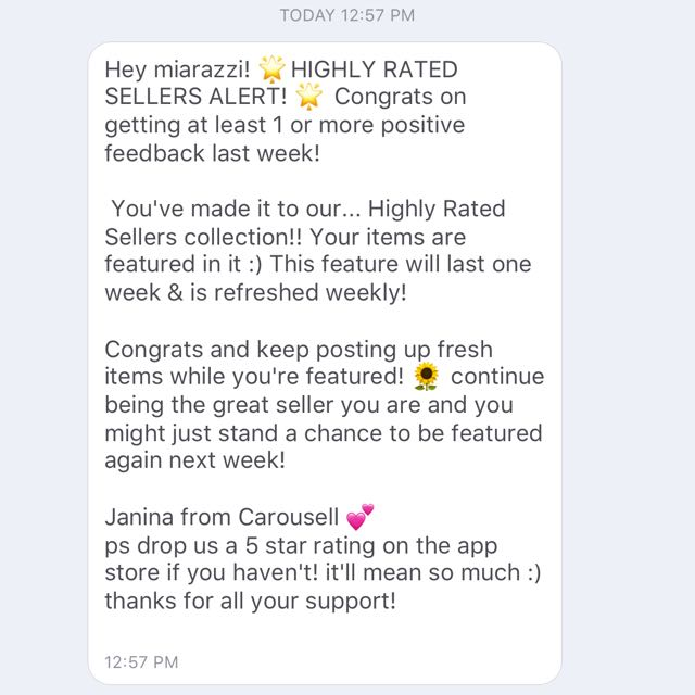 Thanks Carousell! :)