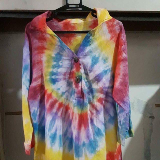 Tie Dye Maxi Shirt