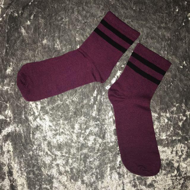 Tumblr Stripe Socks / Kaos Kaki Tumblr / Kaos Kaki HnM