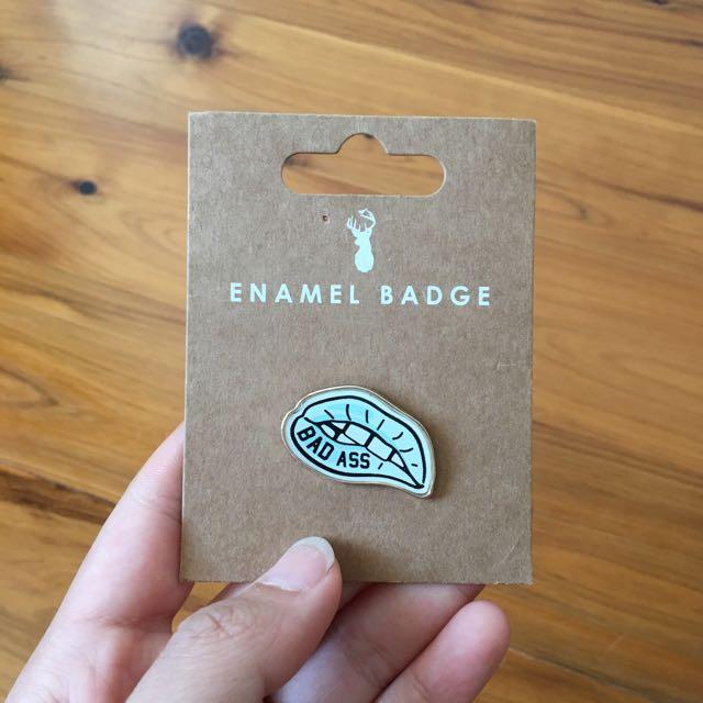 Typo Enamel Badge