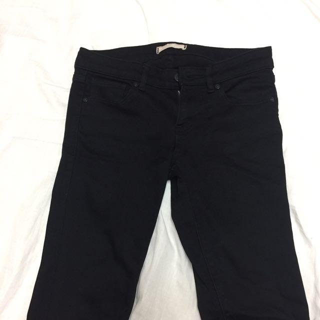 Uniqlo黑色9分褲子