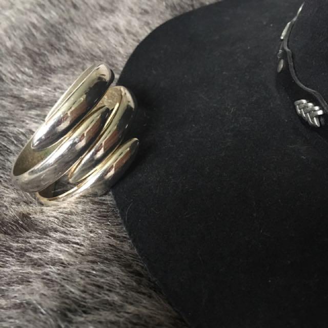 Vintage Boho Silver Bracelet Cuff