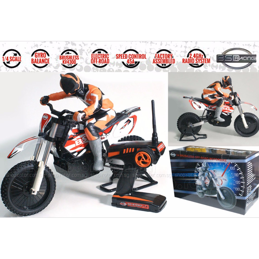 With Electrical Gyro Balance System, BSD RACING 1/4th scale