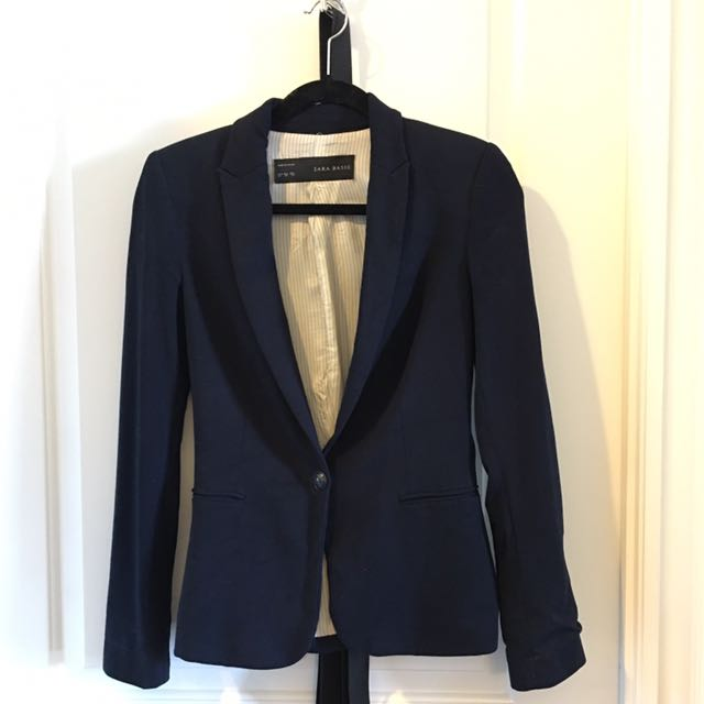 Reduced! Zara Navy Blazer XS