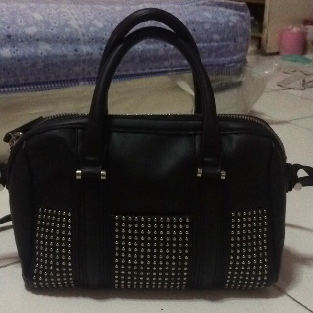 ZARA STRUCTURED BOWLING BAG