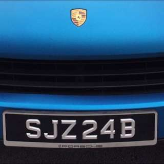 SJZ24B Number Plate