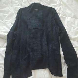 Babaton - Dark Grey & Black Mix Knit Cardigan