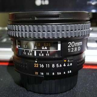 Nikon AF 20mom F2.8D