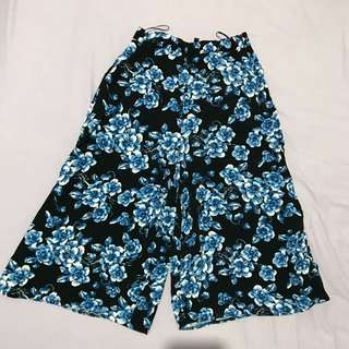 Blue Floral Culottes