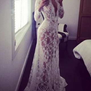 Long Flowey Lace Dress